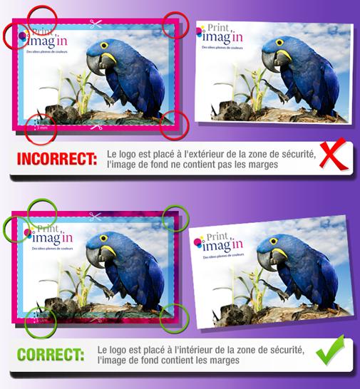Exemple Le Schma Montre Comment Limage Va Au Del De La Taille Relle Du Produit Ligne Dcoupe Jusquau Bord Document Et Que Logo Est Bien